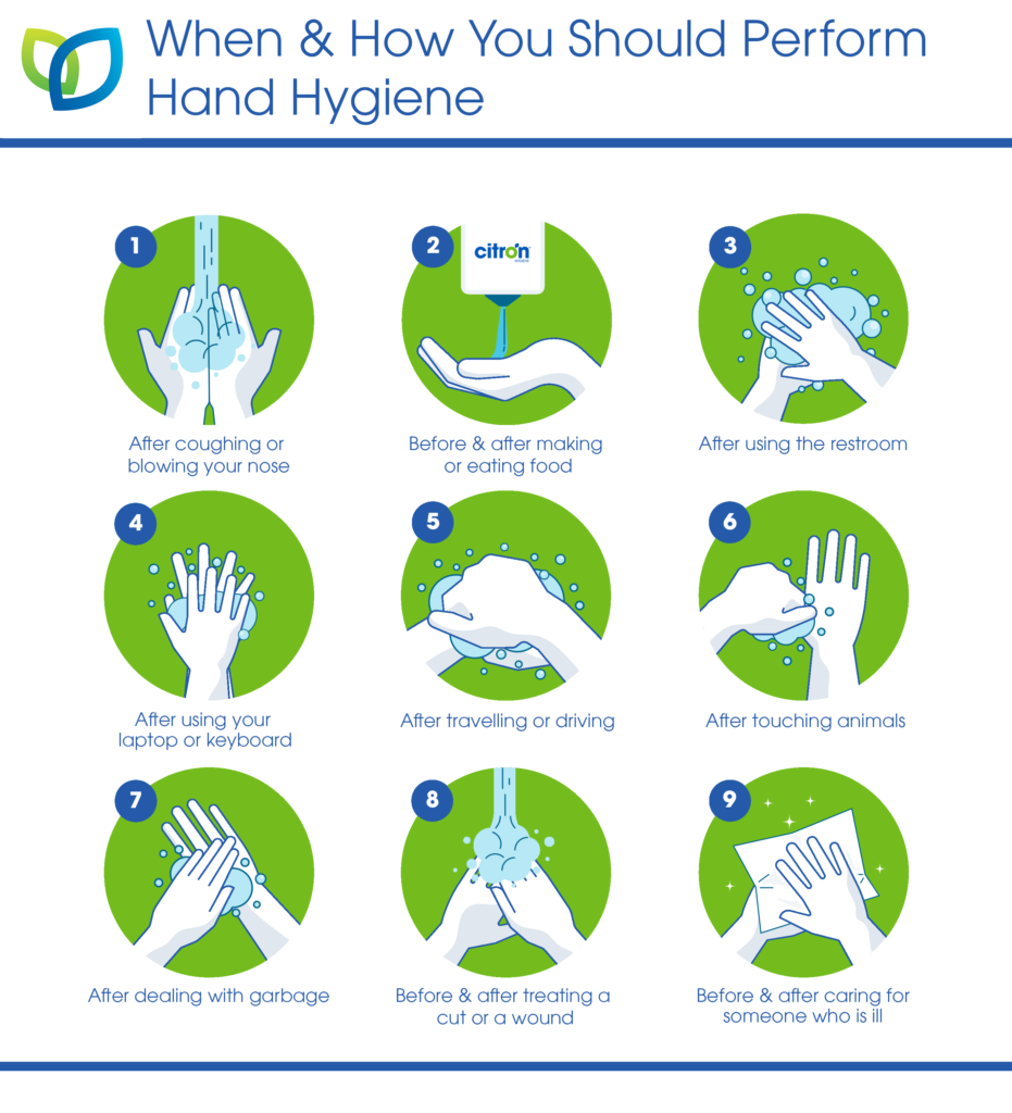 when to perform hand hygiene graphic