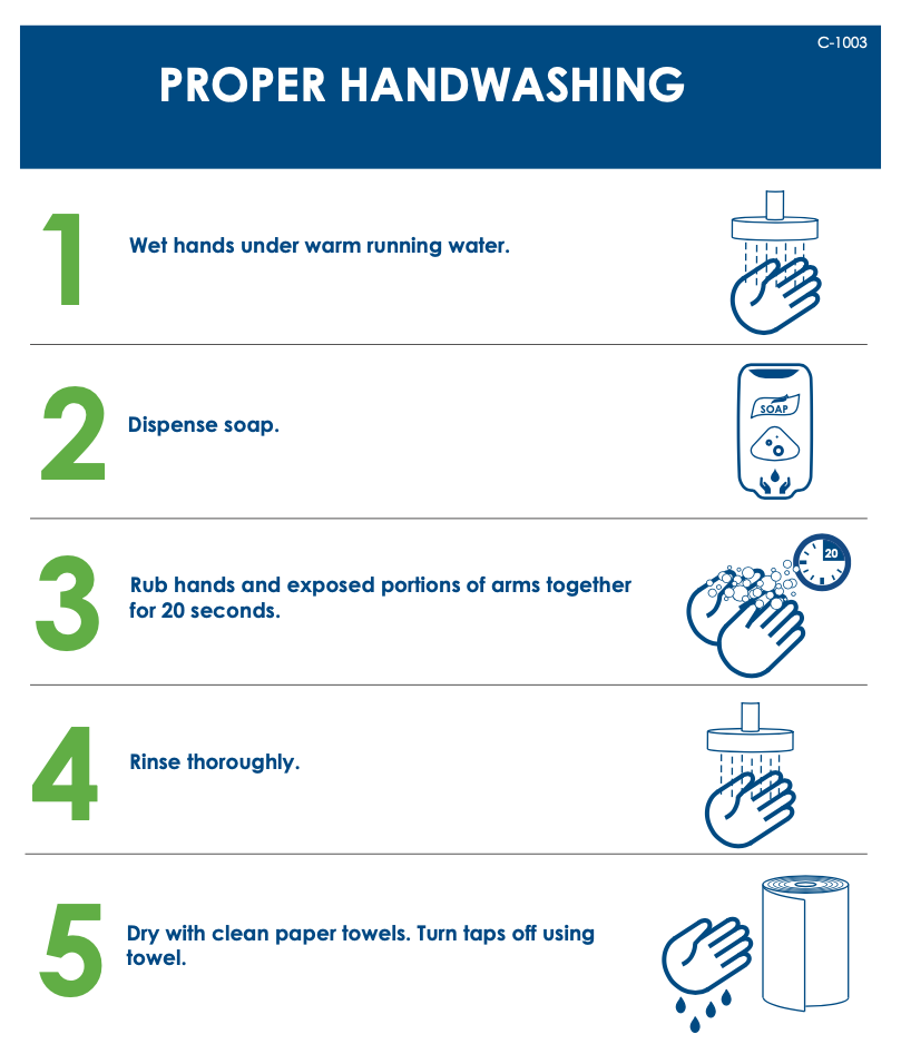 Free How to Wash Your Hands Poster