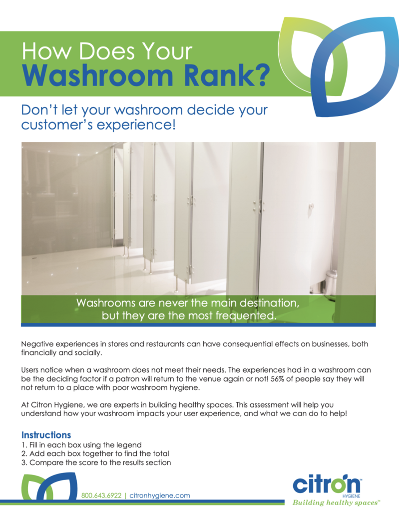Free washroom hygiene scorecard