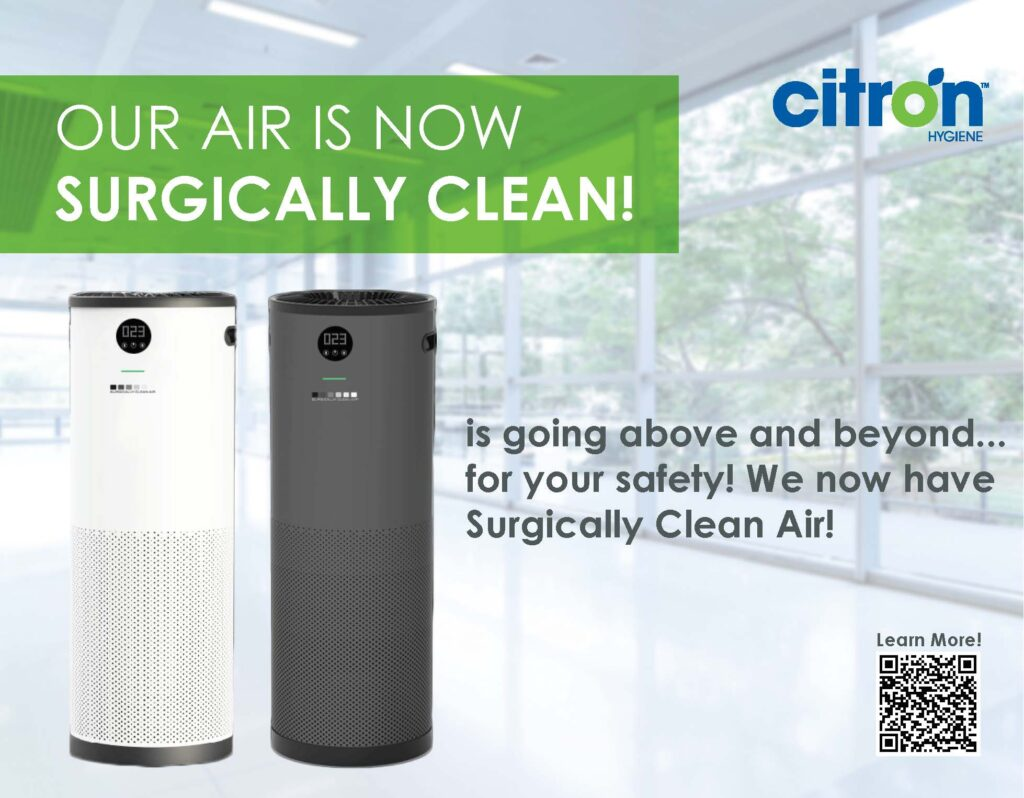 surgically clean air with jade air purification promotional image