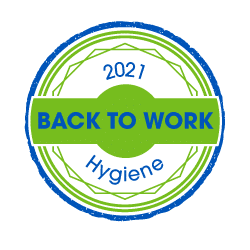 Back to work hygiene solutions badge