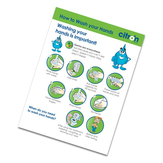 hand washing for kids poster free download