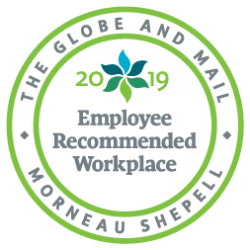 Globe and Mail 2019 Employee Recommended Workplace