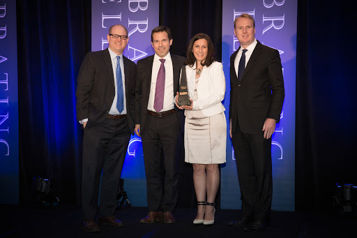 Citron Hygiene team collecting their award - BOMA Toronto Pinnacle Award for Customer Service Excellence